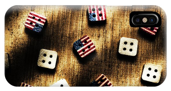 Patriotic iPhone Case - Wooden Button America by Jorgo Photography - Wall Art Gallery