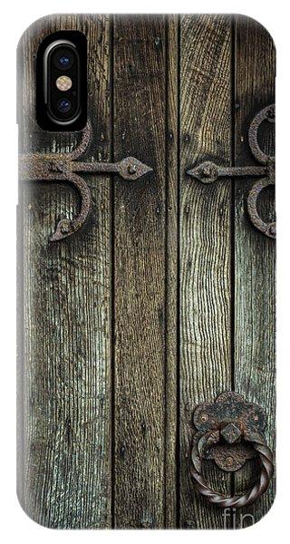 Ironwork iPhone Case - Wooden Church Door by Amanda Elwell