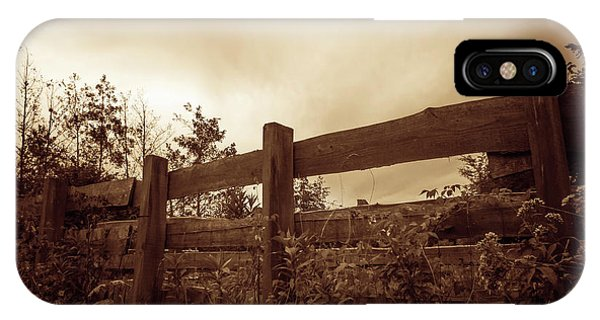 Tint iPhone Case - Wooden Fence by Wim Lanclus