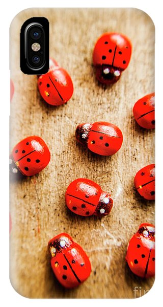Ladybug iPhone Case - Wooden Ladybugs by Jorgo Photography - Wall Art Gallery