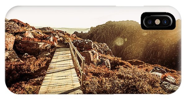 Hiking Path iPhone Case - Wooden Mountain Paths by Jorgo Photography - Wall Art Gallery