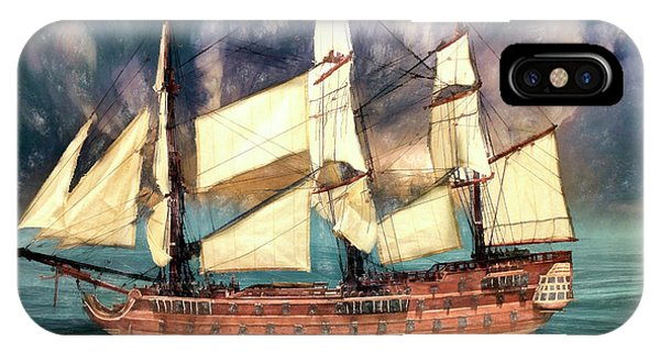 Wooden Ship IPhone Case