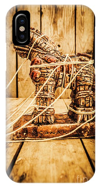 Myth iPhone Case - Wooden Trojan Horse by Jorgo Photography - Wall Art Gallery