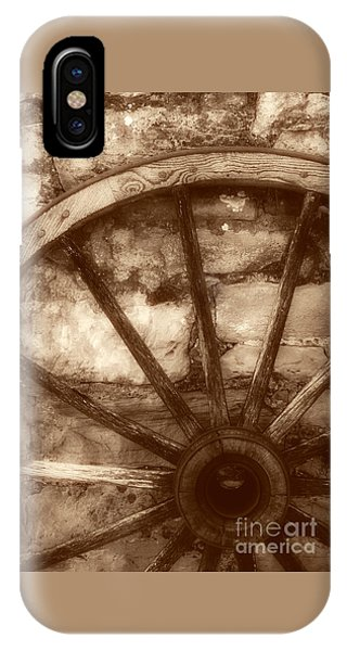 Wooden Wagon Wheel IPhone Case