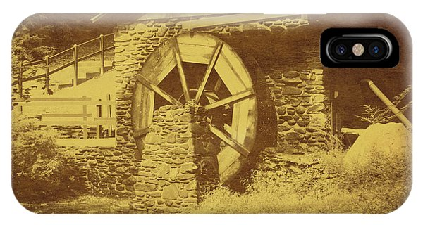 Wooden Water Wheel In Vintage IPhone Case