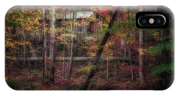 Covered Bridge iPhone Case - Woodland Bridge by Tom Mc Nemar