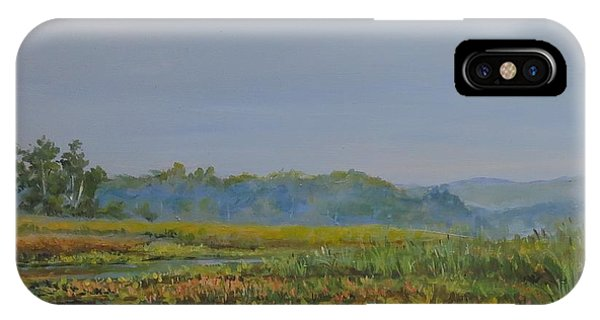 IPhone Case featuring the painting Woodland Lake by William Brody