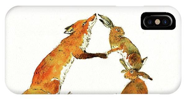 Raccoon iPhone Case - Woodland Letter by Juan Bosco