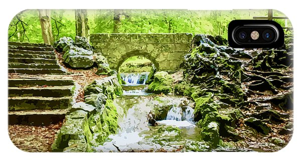 Woodland Steps And Stream IPhone Case
