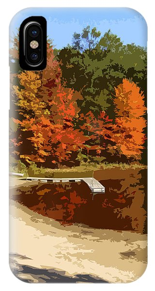 Woodlands On The Lake IPhone Case