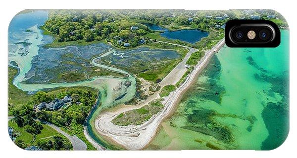 Woodneck Beach At 400 Feet IPhone Case