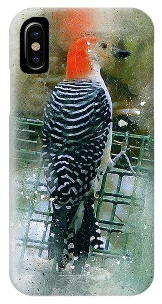 Woodpecker-2-a-8 IPhone Case