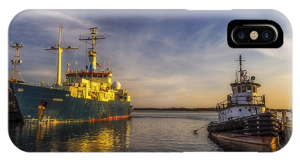 Woods Hole Ship Yard IPhone Case