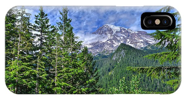 Woods Surrounding Mt. Rainier IPhone Case