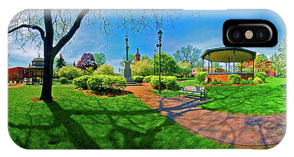 Woodstock Square Historic District 360 Spring IPhone Case