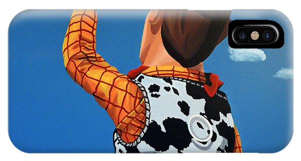 Art Cow iPhone Case - Woody Of Toy Story by Paul Meijering