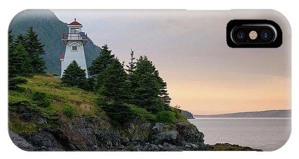 Woody Point Lighthouse - Bonne Bay Newfoundland At Sunset IPhone Case