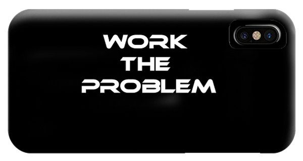 Space iPhone Case - Work The Problem The Martian Tee by Edward Fielding