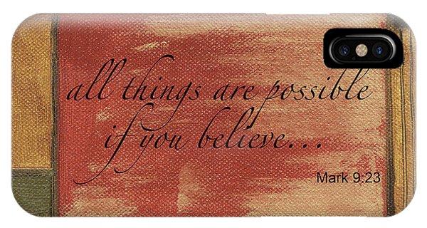 Verse iPhone Case - Words To Live By Believe by Debbie DeWitt