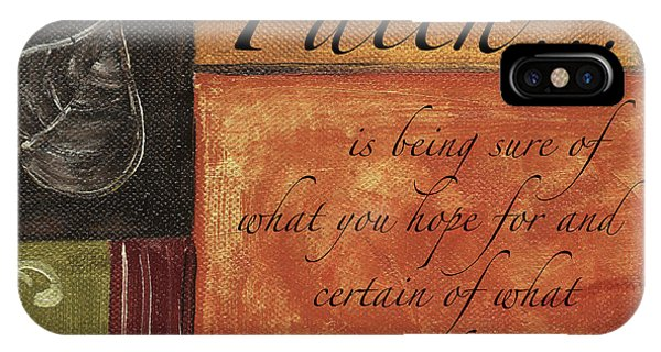 Motivational iPhone Case - Words To Live By Faith by Debbie DeWitt