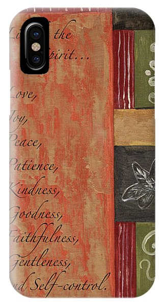 Christianity iPhone Case - Words To Live By, Fruit Of The Spirit by Debbie DeWitt