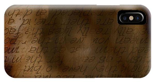 Words Winding IPhone Case