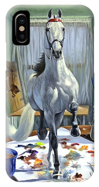 Equine iPhone Case - Work In Progress V by Jeanne Newton Schoborg