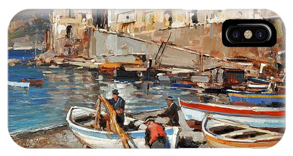 Work Never Ends For Amalfi Fishermen IPhone Case