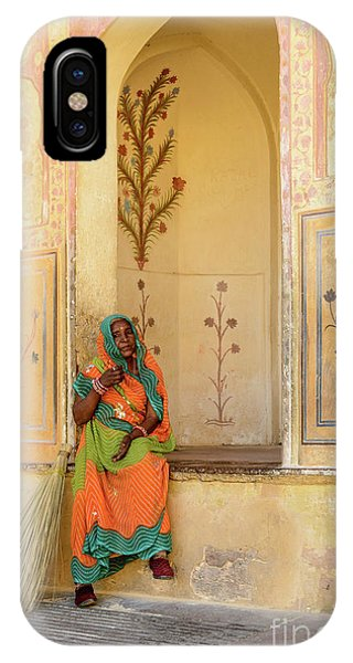 Workers In Amer Fort 01 IPhone Case