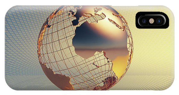Business iPhone Case - World Global Business Background by Johan Swanepoel