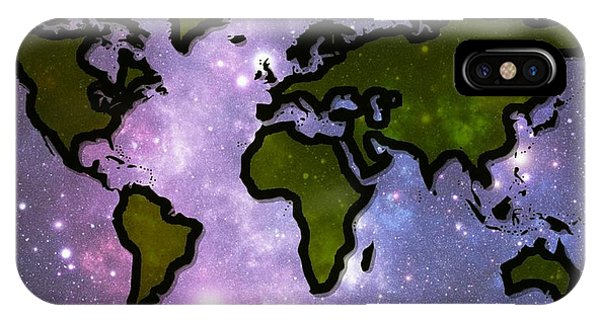 World In Space IPhone Case