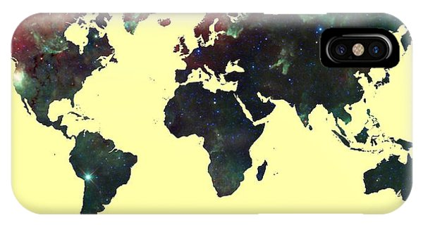 World Map 2 IPhone Case