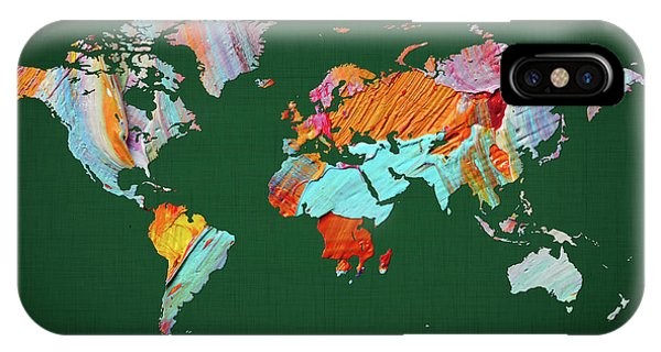 iPhone Case - World Map 23 by World Map