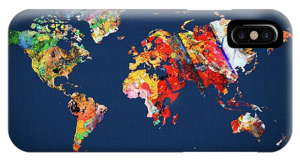 iPhone Case - World Map 24 by World Map