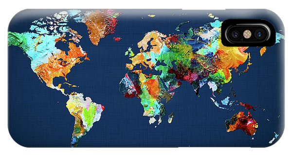 iPhone Case - World Map 25 by World Map