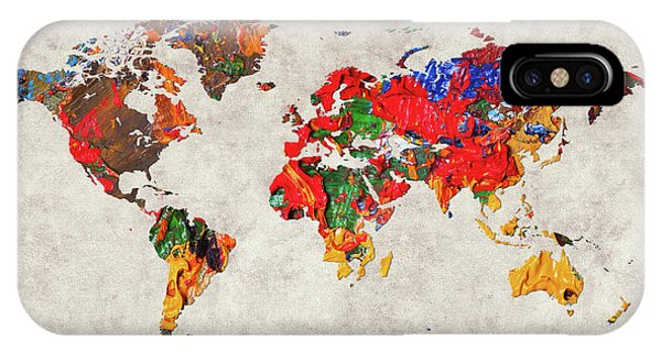 iPhone Case - World Map 26 by World Map