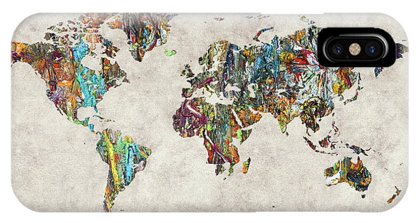 iPhone Case - World Map 28 by World Map