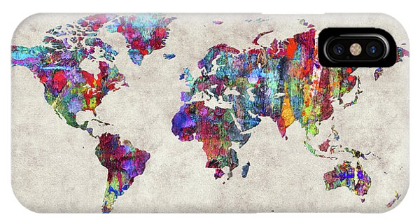 iPhone Case - World Map 30 by World Map