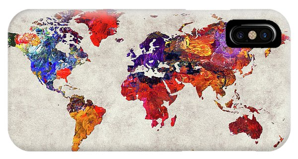 iPhone Case - World Map 32 by World Map