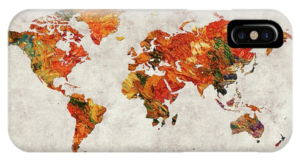 iPhone Case - World Map 36 by World Map