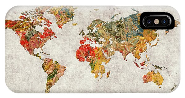 iPhone Case - World Map 37 by World Map