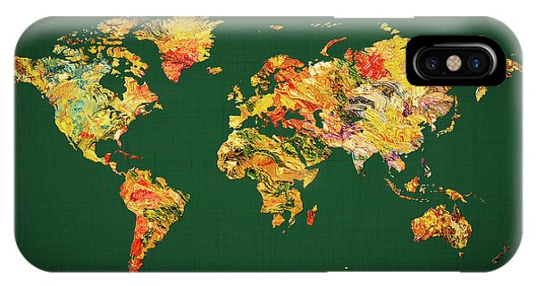 iPhone Case - World Map 38 by World Map