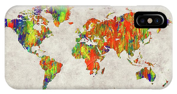 iPhone Case - World Map 40 by World Map