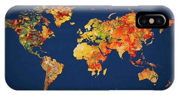 iPhone Case - World Map 41 by World Map