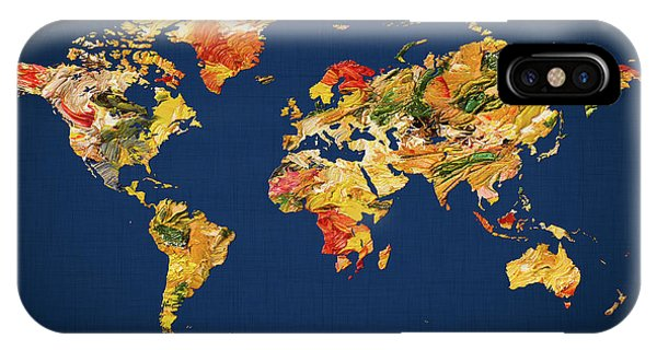 iPhone Case - World Map 42 by World Map