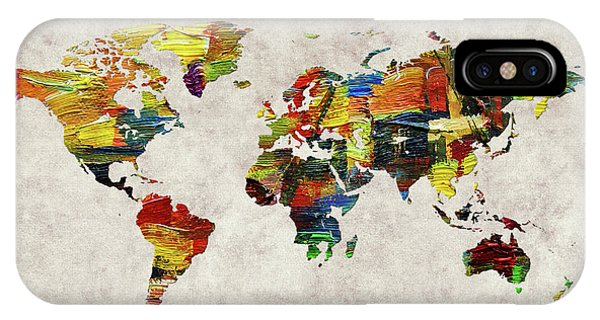 iPhone Case - World Map 44 by World Map