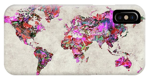 iPhone Case - World Map 47 by World Map