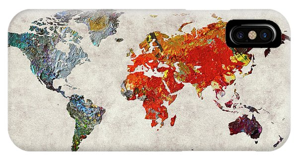 iPhone Case - World Map 49 by World Map