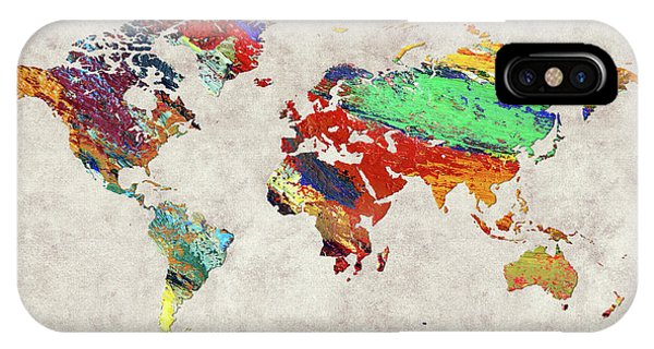 iPhone Case - World Map 51 by World Map