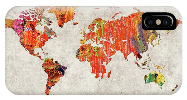 iPhone Case - World Map 53 by World Map